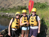 Karen, Joan and Victoria bonded by paddling the smaller boats, called duckies.