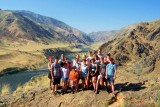 Some of us hiked to this hilltop to enjoy the view of the windy Snake River