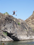 Our group enjoyed rock-leaping - guides always jumped first!