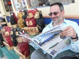 Cliff catches up on local news