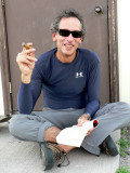 Cycling and cigars go hand in hand for Gregg