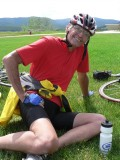 You would never guess Ken is 81, our veteran cyclist.
