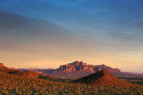 Superstition Mountain At Sunset 80147