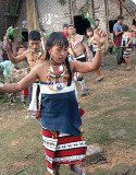 Zeme dancer, North Cachar Hills, Assam, India