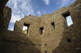 Inside the ruins of Pueblo Bonito