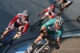 Sprint Race in the Alpenrose Velodrome, Portland, Oregon