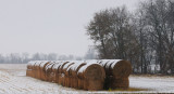 Snow on the Hay Bales