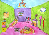 perspective: my dream room, Isabel, age:6