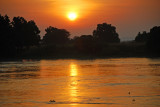 Sunrise over the White Nile River in Juba, Southern Sudan 10 November, 2010