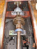 We had to remove the metallastic coupling and the plummer block ...