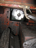 The coupling from the back cabin
