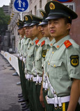Chinese Soldiers Outside Tiananmen Square