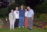 Pat Barbara Charlie Carole and Philip taken in our garden