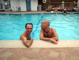 handsome boys in the pool at Lone Pine