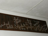 LaPerla's walls are embellished with famous signatures.JPG