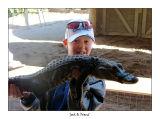 Josh with a gator