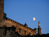 Morning moon over the Popes' abode
