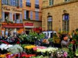 Flower street market of Saturday