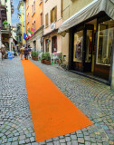 Following the orange carpet...