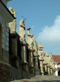 saints guard the Paradise Square
