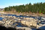 les rochers de la rivière Petite décharge