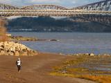 du jogging sur la plage