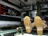à l'intérieur de l'ambulance militaire