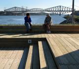 pont de Québec et marche