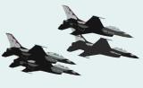 4 thunder birds graphique