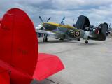 le Beechcraft et le P-51 Mustang