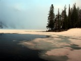 Cliff Lake morning clouds
