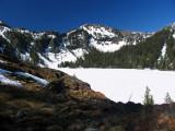 Cliff Lake frozen over in June
