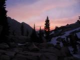 Mirror Lake campsite sunset