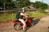 Paul on his moped near Chiang Mai