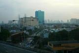 On the bus into Bangkok