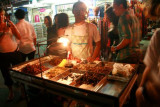 Man selling insects to eat, Khao San Road