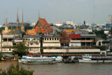 View east from Wat Arun