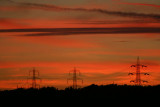 Industrial Sunset over Cleckheaton