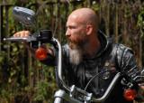 H and his Harley-Davidson