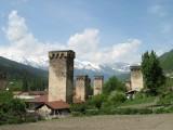 Mestia - typical Svanetian towers