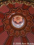 Detalle del techo en el Santuario de Guadalupe en Morelia