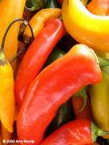 Orange and yellow chiles