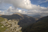 The summit of Snowdon, known as Yr Wyddfa in Welsh, is surrounded by magnificent scenery.