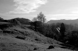 The lake district  near the lake of Ullswater