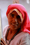Woman in rural village