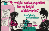 My Weight Is Always Perfect For My Height, Which Varies (1982) (inscribed with drawing)