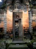 Doorway inside Ubud palace courtyard.