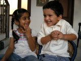 Antara and Rahil having some laughs
