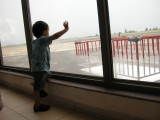 Admiring the airport