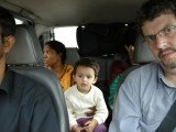 Driving to Kasauli.  A two-hour trip from Simla.